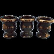 Tiara Exclusives Black Glass Mini Urns Toothpick Holders