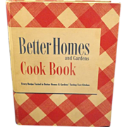SOLD Better Homes & Gardens Cook Book 1949 Deluxe Edition Revised Twentieth Printing