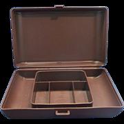 Tupperware #1624 Personal Valet Case Organizer Brown Plastic