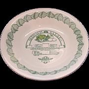 Royal China Spinach Salad Garden Classics Recipe Serving Bowl