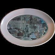 Brookpark Massachusetts Bicentennial Oval Melmac Platter