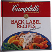 Campbell's Back Label Recipes and More 1995 1st Edition Cook Book