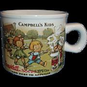 Campbell's Kids Soup Mug Small Westwood 1994 1910 Postcard Design