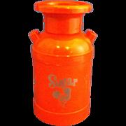 Orange Milk Can Plastic Sugar Shaker D M Plastics Broken Arrow Oklahoma