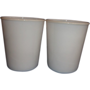 Salton Yogurt Cups Milk Glass No Lids