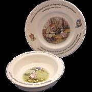 Royal Doulton World of Beatrix Potter Elegantly Dressed Plate Jemima Duck Bowl