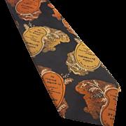 Mr. John Beau Brummel Vintage Tie Jacquard Fleuriste Au Bouquet da Mimosa
