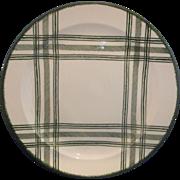 "Royal China Green Plaid Bonnie Sonja Chop Plate Round Platter 13"""