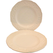Indiana Glass Milk Glass Orange Blossom Indiana Custard Dinner Plates