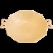 Fostoria Fairfax Ivory Custard Glass Small Bow Handle Bowl