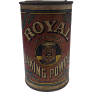 Royal Cream of Tartar Baking Powder Tin 6 oz Paper Label Intact