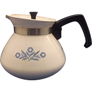 SOLD Corning Cornflower Corningware 6 Cup Tea Pot