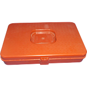 SOLD Wil-Hold Wilson Manufacturing Orange Plastic Thread Spool Box