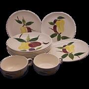 Stetson Rio Fruit Pattern Soup Bowls Salad Plates Cups Set 10 Pieces