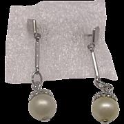 Faux Pearl Dangle Drop Earrings
