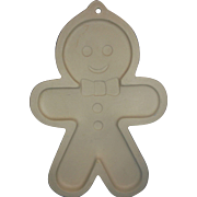 Sassafras Superstone Giant Gingerbread Man Stone Cookie Mold Shortbread Pan