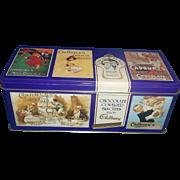 Cadburys Chocolate Covered Biscuits from Cadbury Purple Advertising Tin Rectangle Box