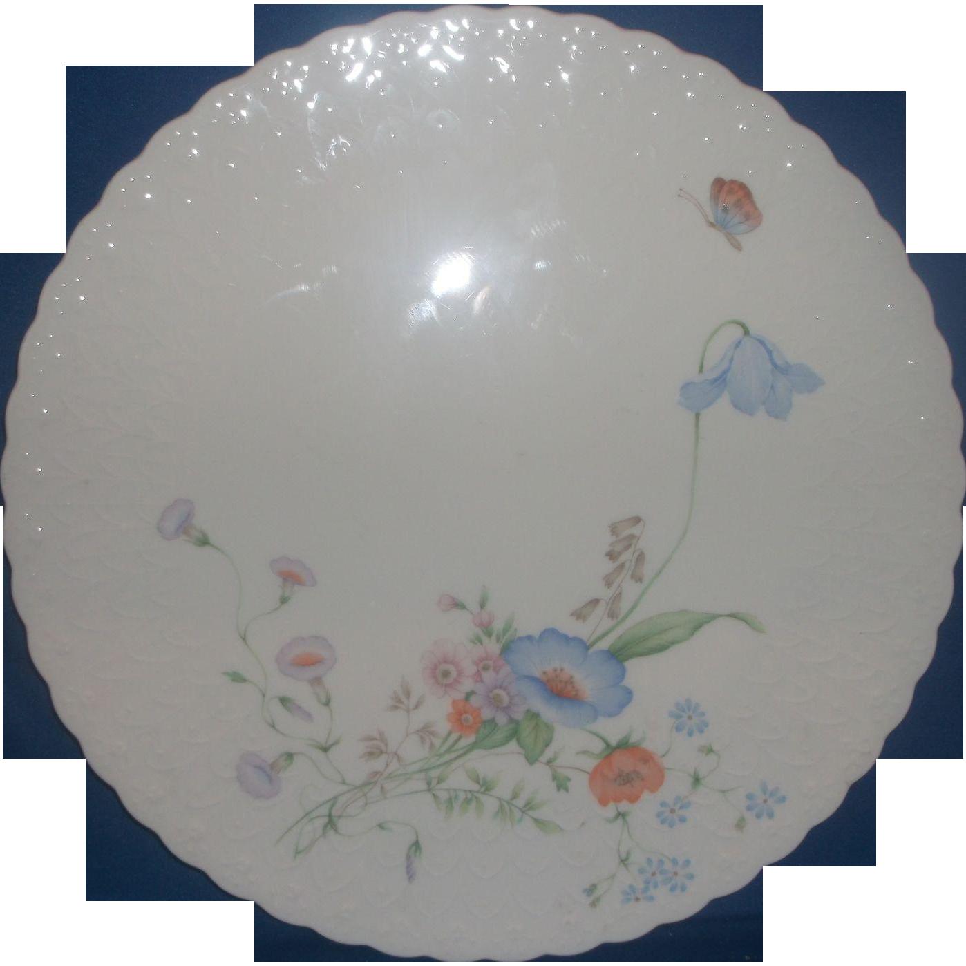 mikasa something blue bone china porcelain cake plate from. Black Bedroom Furniture Sets. Home Design Ideas