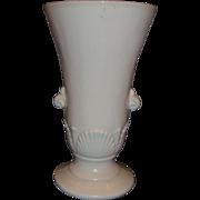 Anchor Hocking Vitrock Seashell Art Nouveau Urn Vase Cream Ivory Milk Glass