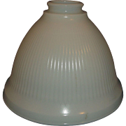 SOLD Milk Glass Torchiere Ribbed Light Bell Shape Lamp Shade Medium Size