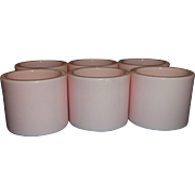 Hong Kong Pink Plastic Napkin Rings Set of 6