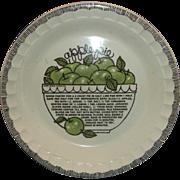 Apple Pie Recipe Pie Plate Pan Royal China Country Harvest