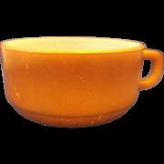 Brown Fire-King Soup Mug Handle Bowl