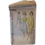 Simplicity 4400 Suit Pattern Straight Pleated Skirts Size 16 Bust 36