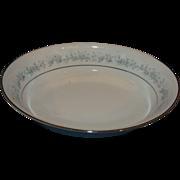 SOLD Noritake Marywood Oval Vegetable Serving Bowl Blue Flowers Platinum Trim 9 5/8 IN