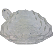Fostoria American 3 Corner Nappy Handled Bowl Clear Glass