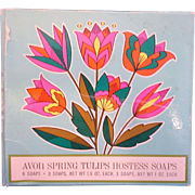 Avon Spring Tulips Hostess Soaps 1970 Mint In Box