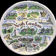 North Carolina Souvenir State Plate Colorful