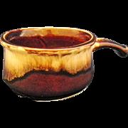 Robinson Ransbottom Brown Drip Handled Soup Bowl Bean Pot