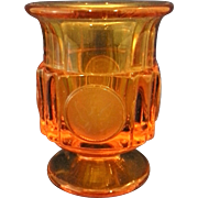 Fostoria Amber Coin Glass Cigarette Urn