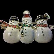 SALE Snowman Snowmen Glitter Enamel Pin Christmas Winter
