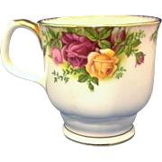 SALE Royal Albert Old Country Roses Footed Smooth Mug Montrose Shape