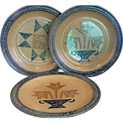 Pfaltzgraff America Dinner Plates Set of Three Two Different Designs