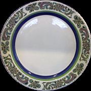 Noritake Craftone Polka Blue Green Dinner Plate