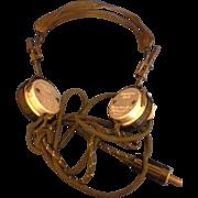 American Bell Wayland Radio Headset Headphone Telephone Operator