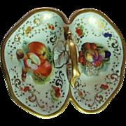 "*1840 - 1844:Autumn "" Still Life "" Porcelain Basket from the First KPM Factory"