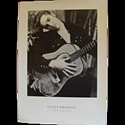 *1950's Black and White Elvis Presley Publicity  Lithograph Photo Corniche
