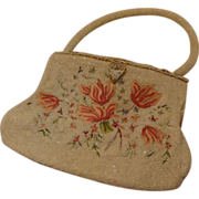 *1940's: Shimmering Beaded and Embroidered French Evening Handbag