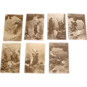 "1912: Domenico Mastroianni  "" The Story of Creation "" Postcards"