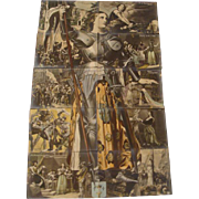"""Circa 1910; Complete 10 Piece Installment Puzzle of """" Joan of Arc """""""