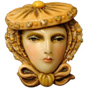 "Sylvia Massey Face Brooch "" An Edwardian Lady """