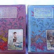 SALE Pair Rare Religious Tract Society, London Children's Christian Books, circa 1873-80