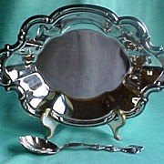 SALE International Silver Co. Dinner Mint Server with Shell Spoon, circa 1960s