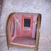 SOLD Antique French Pink Wedding Display Casket
