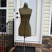 SOLD Early 1900's Dress Form Adjustable Mannequin with Tiny Waist