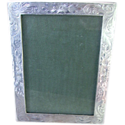 SOLD Early Sterling Silver Small Etched Frame